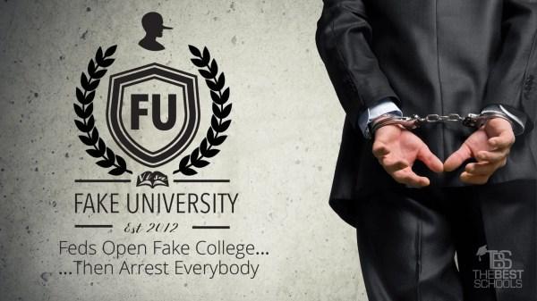 Fake University Feds Open College. Arrest