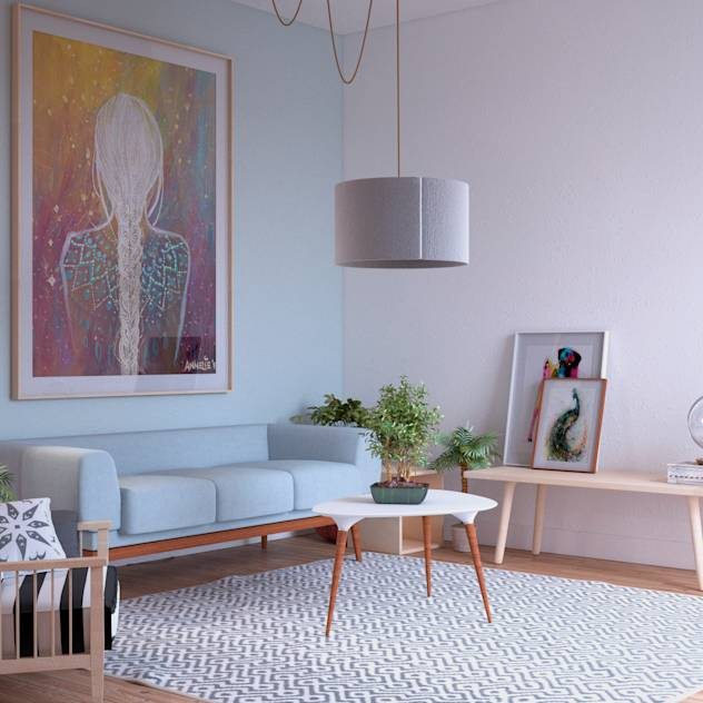 Living Spaces : Scandinavian style living room by ERC