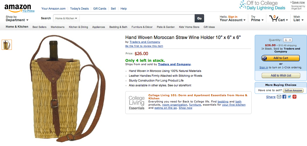 handwoven moroccan straw wine holder for sale by traders and company us including shipping