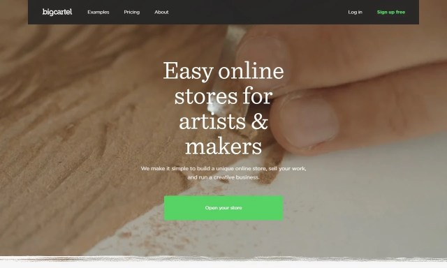 Homepage Bigcartel