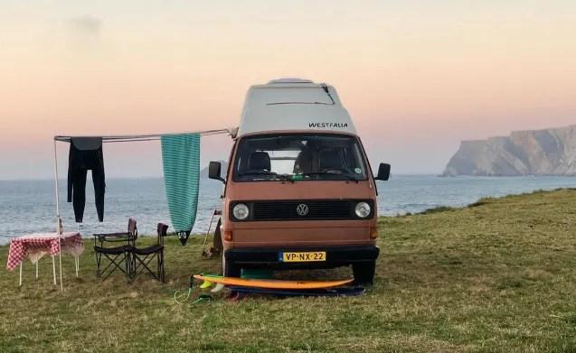 Hele nette Volkswagen T3 Joker camper met hoogdak en 4