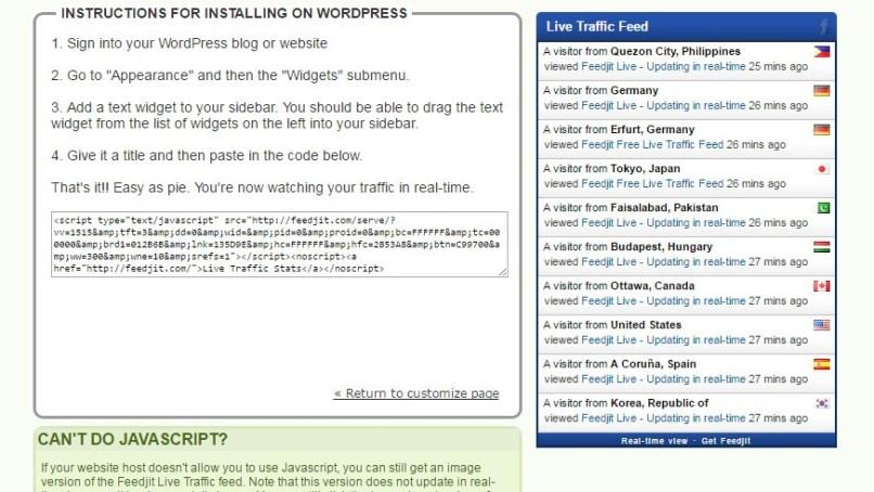 live traffic widget