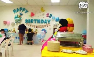 Buffet party with decorations