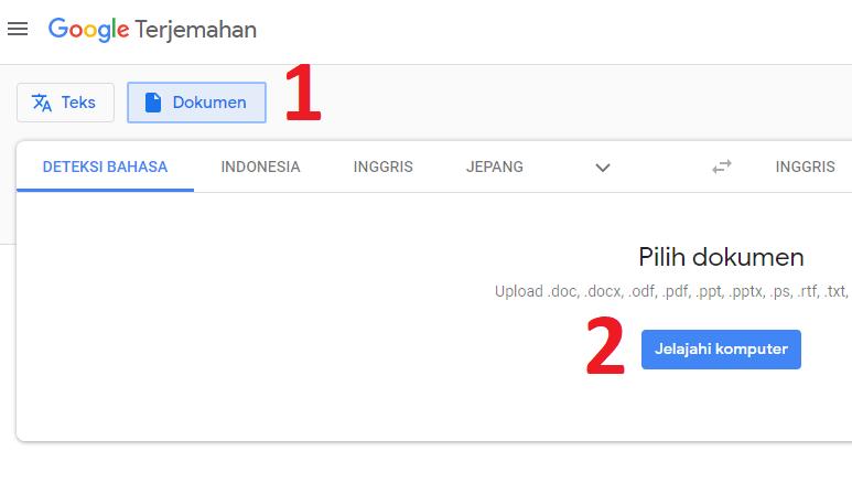 4 Cara Translate File Pdf Inggris Indonesia Online Di Android Dan Pc
