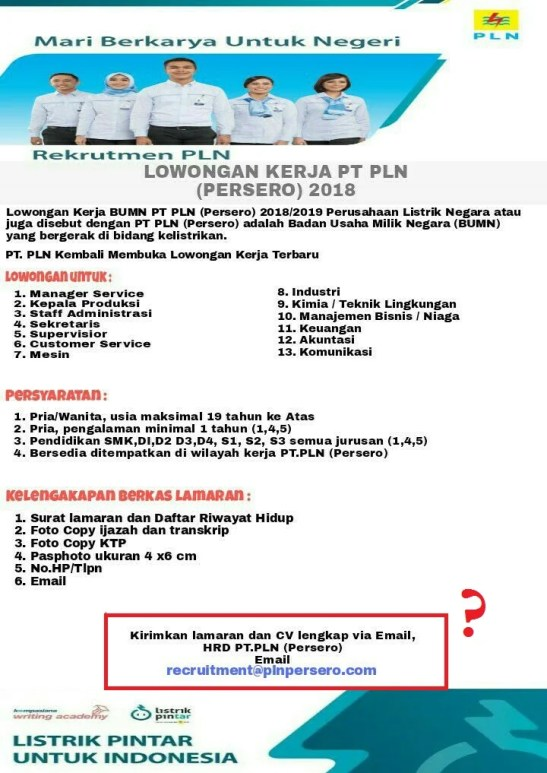 Waspadai Lowongan kerja Palsu Berkedok PT PLN (Persero)