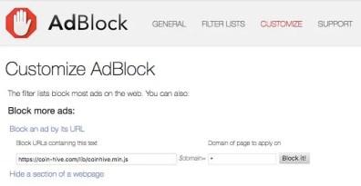 Block Mining Script dengan Adblock