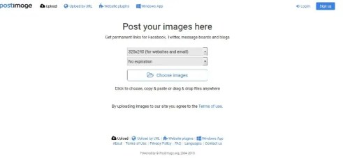 Hosting Gambar  Postimage