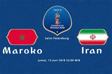 Nonton Online Piala Dunia 2018 Maroko vs Iran