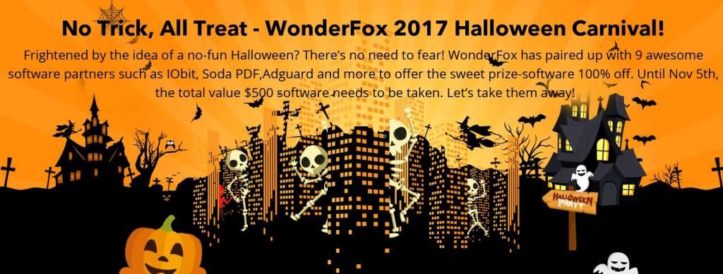 WonderFox Soft - 2017 Halloween Giveaway