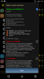 Patch Uc Browser Download Youtube dengan Lucky patcher 3
