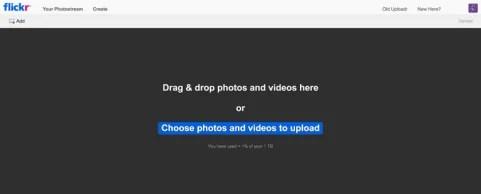 Hosting Gambar  Flickr