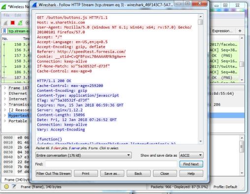 wireshark Analyzing Packets