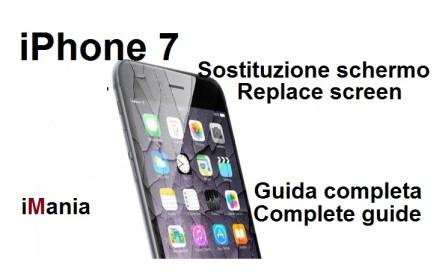iphone 7 sostituzione schermo vetro touch lcd display imania varese