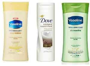 Vaseline & Dove Beauty Products