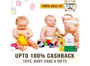 Toy's Baby Care & Gifts 100% Cashback