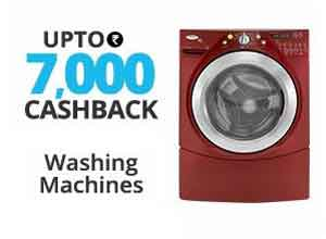 Washing Machines Extra upto Rs.22% Cashack