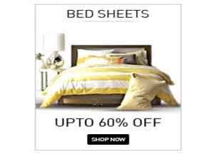 Bed Sheets Upto 60% Off