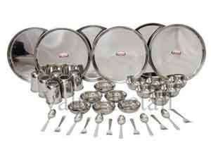 Shubham Stainless Steel Dinner Set 36 Pcs