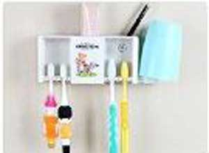 Cute Angel Bear Plastic Toothbrush Stand Holder