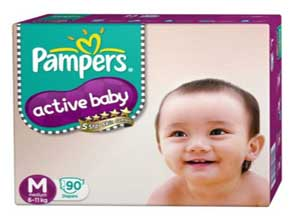Pampers Active Baby Medium Size Diapers