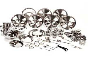 Bhalaria Stainless Steel 111 Piece Dinner Set