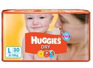 Huggies Dry Diaper-L Size 30Pcs