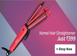 Kemei KM - 990 KM - 990 Hair Straightener Pink