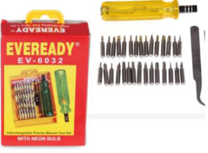 Eveready 33 in 1 Screw Driver Set with Neon Bulb