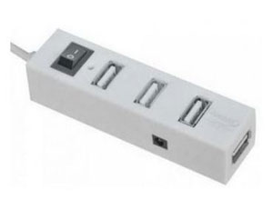 Quantum 4 PORT USB HUB with Switch and LED indicator