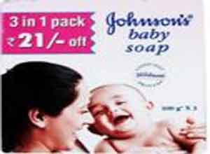 Johnson's Baby Soap 100g Pack of 3