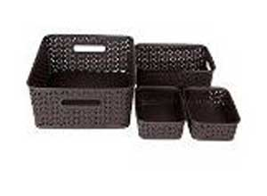 Bel Casa ROYAL Baskets for Storage Set of 4 Pieces