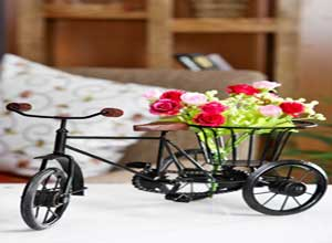 Click to open expanded view Pindia Wrought Iron Small Miniature Flower Rikshaw