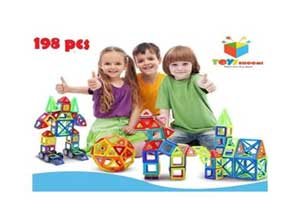 Toys Bhoomi 198 Piece Magical Magnetic Building Blocks Brain Booster Educational Toys