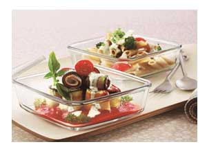 Borosil Square Dish with Lid and Storage Set