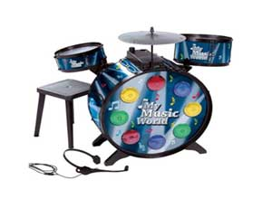 Simba My Music World Electronic L+S Drum, Multi Color