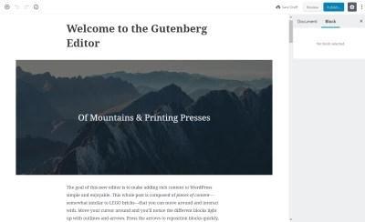 Gutenberg Editor Demo