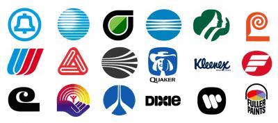 Une sélection de logos d'entreprise conçus par Saul Bass