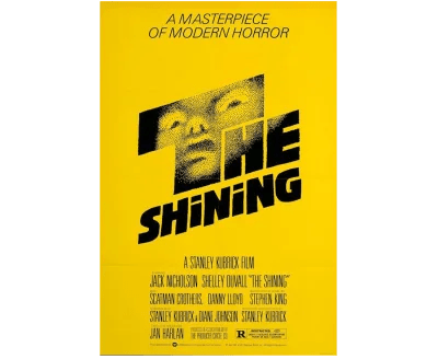 Affiche du film de Stanley Kubrick «The Shining»