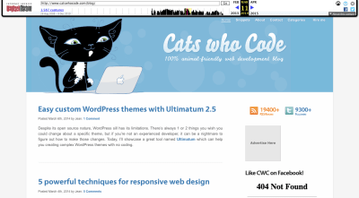 Cats Who Code website 2014