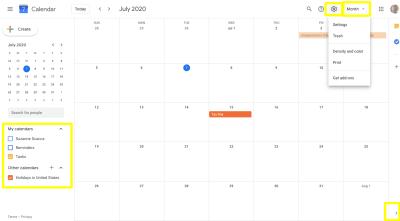 Google Calendar - view customizations
