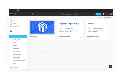 A screenshot of Liferay's open source Figma project