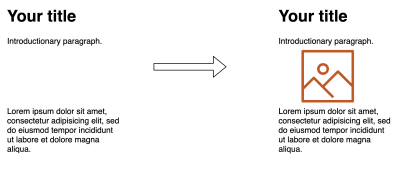 An example layout mockup with a title, a paragraph, space for an image and then a second paragraph, where the text does not shift when the image loads.