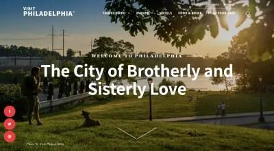 Visitez la page d'accueil du site Web de Philadelphie