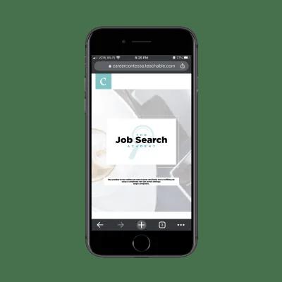 La page du programme Job Search Academy de Career Contessa