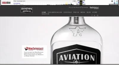 Aviation Gin website 2016