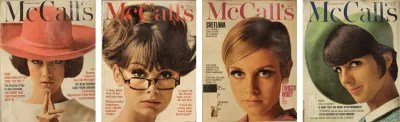 A selection of covers from Otto Storch's time as art director for McCall's Magazine.