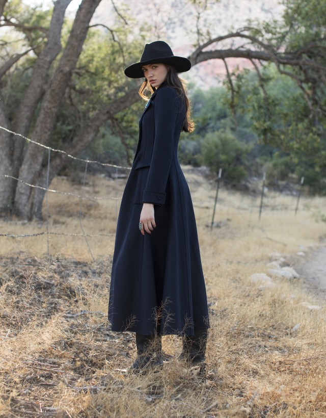 wool coat, Christian Dior; ring, jewelersdaughter.com