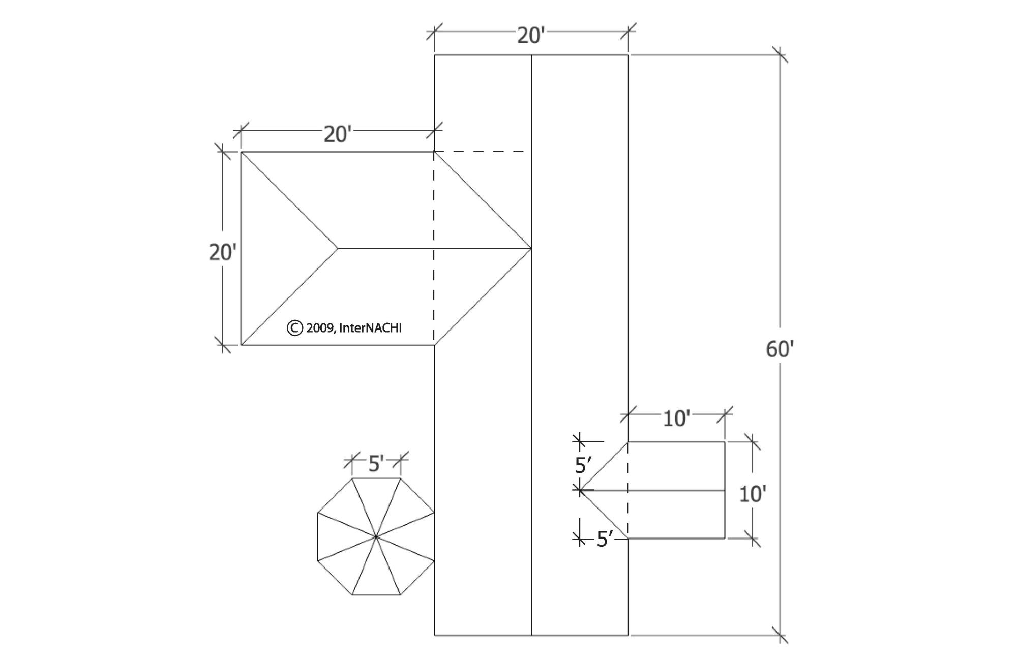 hight resolution of roof diagram