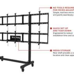 modular video wall cart 3x2  [ 1024 x 768 Pixel ]