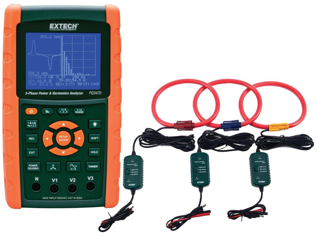 hight resolution of extech pq3470 30 3000a power analyzer kit pq3470 with pq34 30
